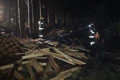 Brand Holzstoß Rammerstorf