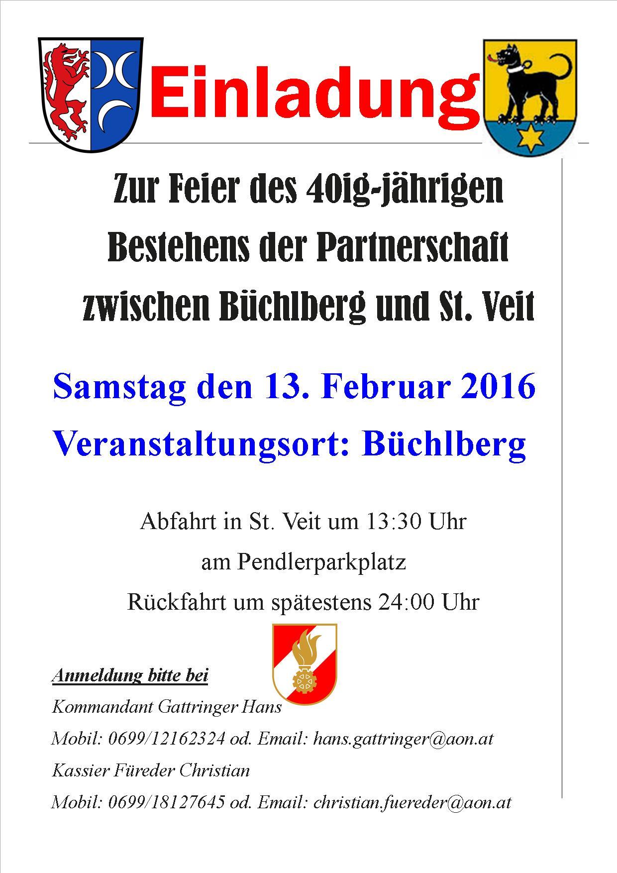 40ig-jährige Partnerschaft Büchlberg und St. Veit