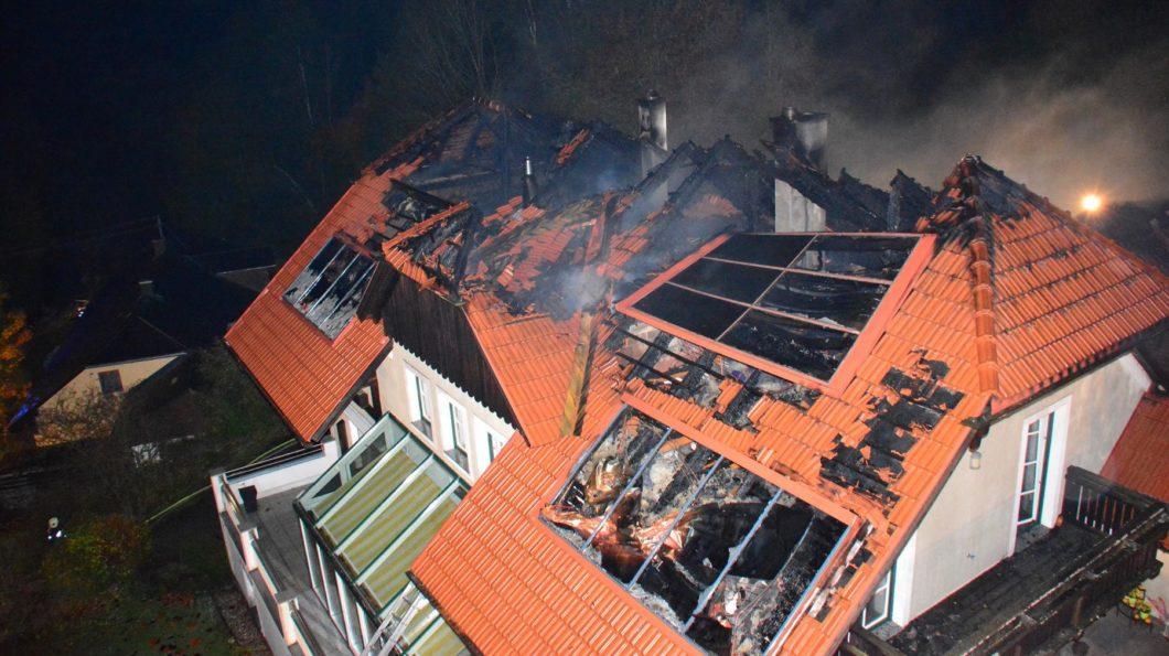 Brandeinsatz Waxenberg
