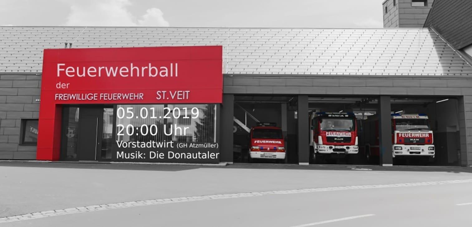 Einladung zum Feuerwehrball 05.01.2019
