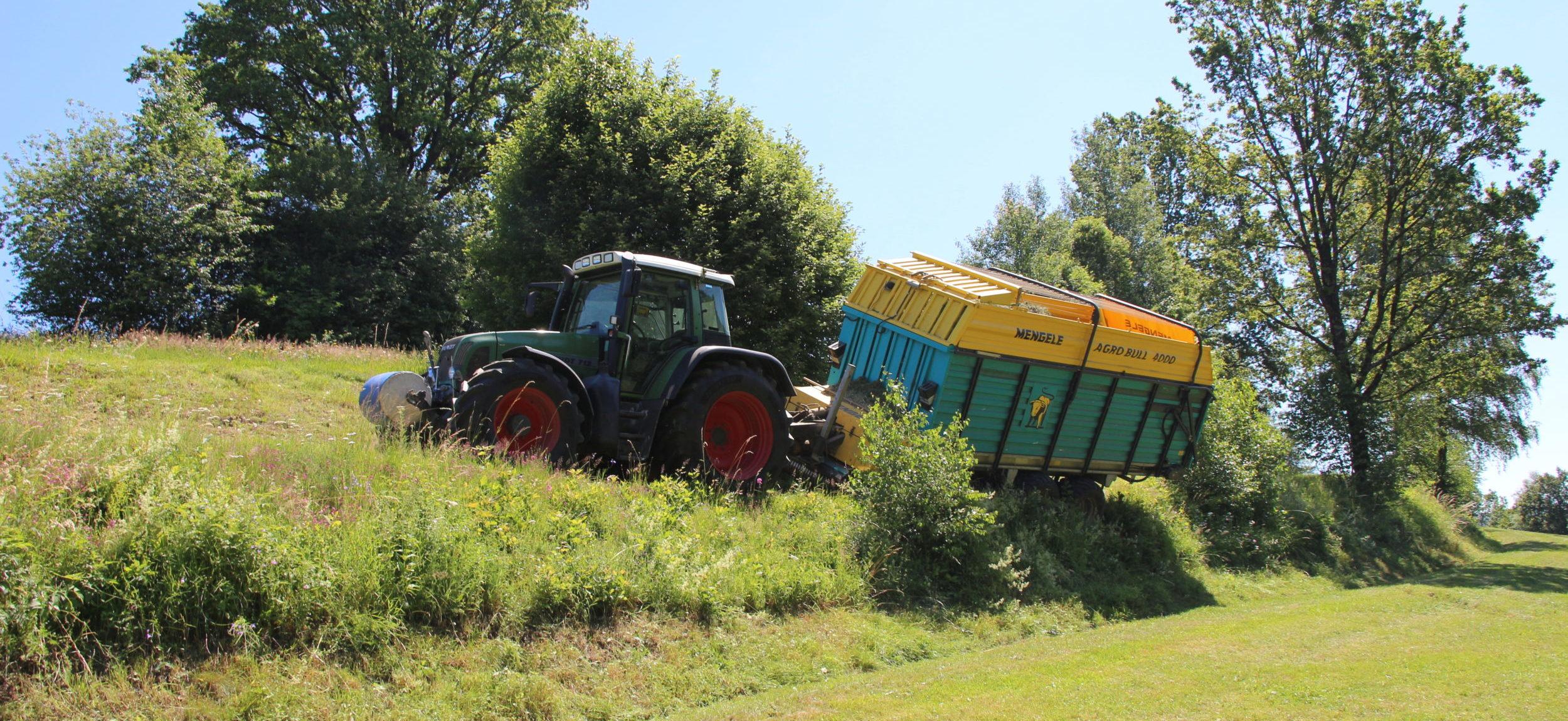 Traktorbergung – Ladewagen